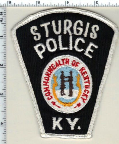 Sturgis Police (Kentucky) uniform take-off patch - from 1990