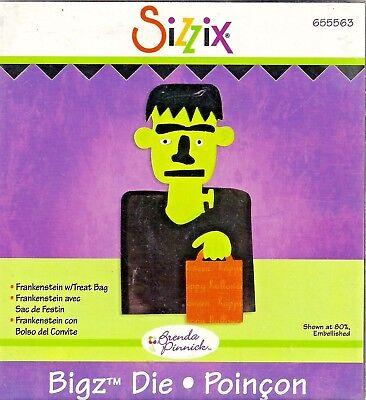 Halloween Bag Crafts - Frankenstein with Treat Bag Halloween Sizzix Bigz Die 655563 NEW