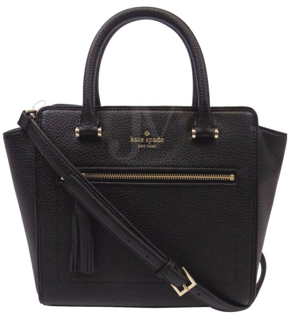 Kate Spade Chester Street Small Allyn Black Leather Satchel ...