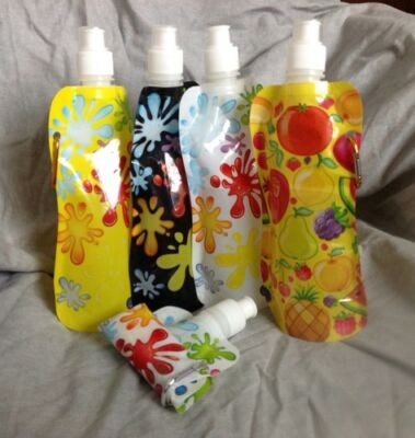 Foldable Water Bottles, BPA Free, 50pcs multi designs wholesale - Water Bottles Wholesale