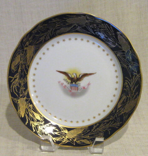 Danbury Mint Reproduction US President Benjamin Harris Salad Plate