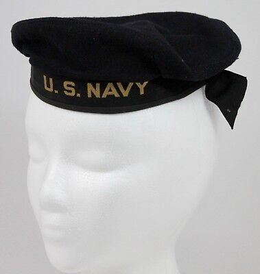 Sailers Hat (WWII US NAVY Sailer Wool Cap Hat THE NAVAL CADET No 1556 Ed Zuckerman Cap Corp)