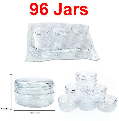 96 PACKS 15 Gram/15ML High Quality Lotion Cream Cosmetic Sample Jar Containers