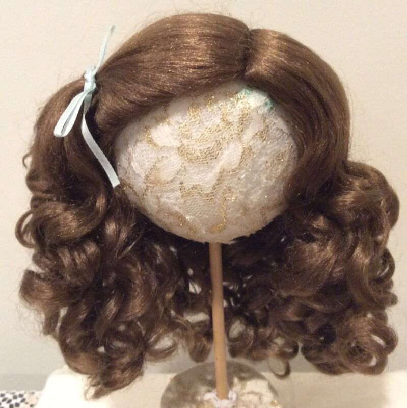 """13"""" Light Brown Synthetic Mohair Wig with Hand Tied Side Part"""