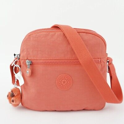 KIPLING KEEFE Shoulder Crossbody Bag Papaya Orange Tonal