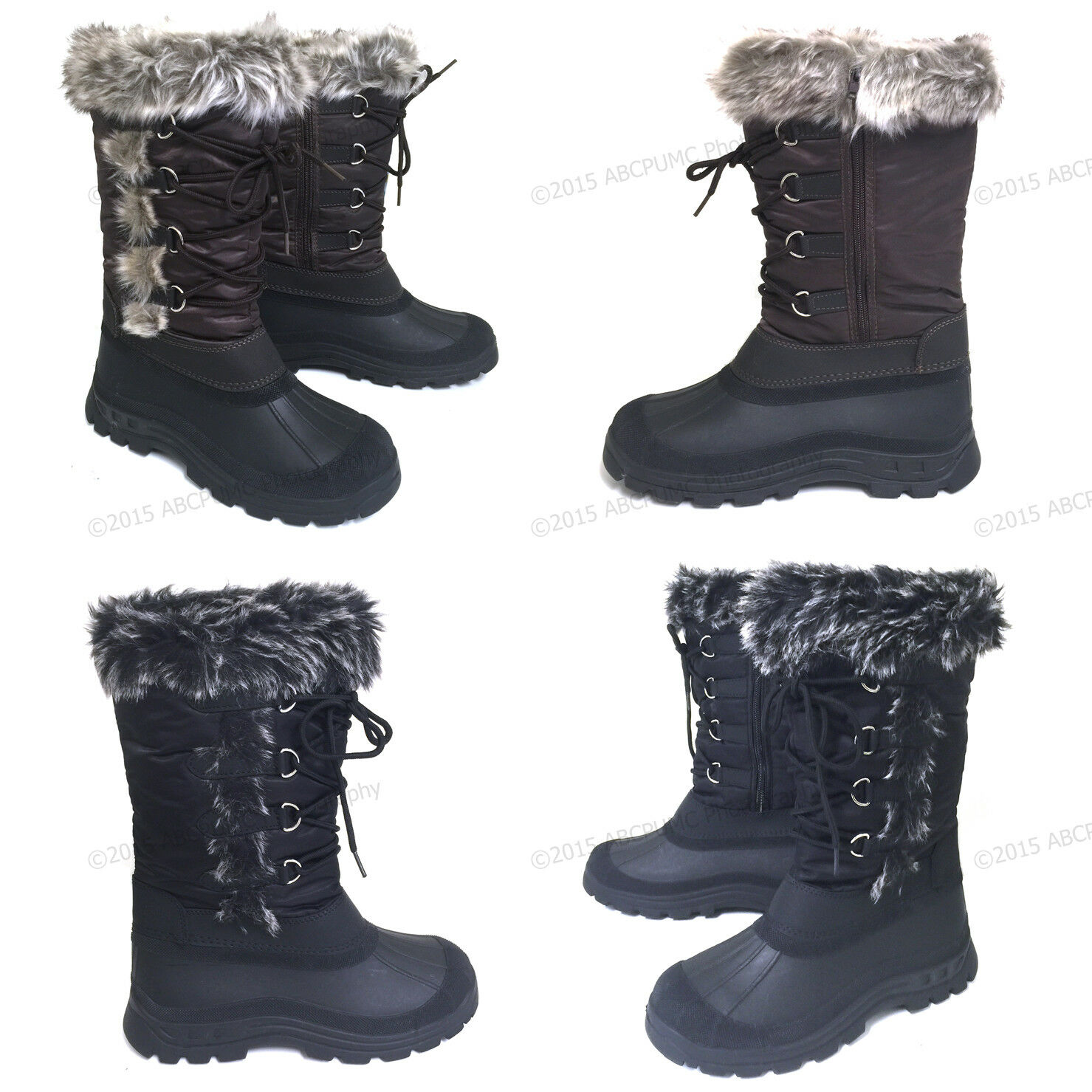 Womens' Winter Boots Fur Warm Insulated Waterproof Zipper Sk