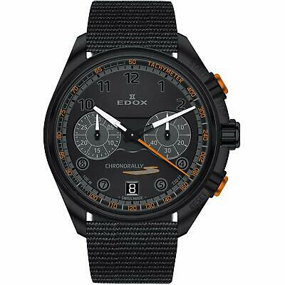 NEW Edox Chronorally-S Men's Chronograph Quartz Watch - 09503 37NNONAN NNO