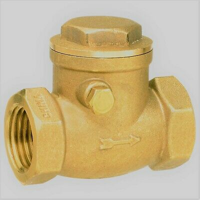 12 Fip Brass 200 Wateroilgas Swing Check Valve Threaded Plumbing Fitting
