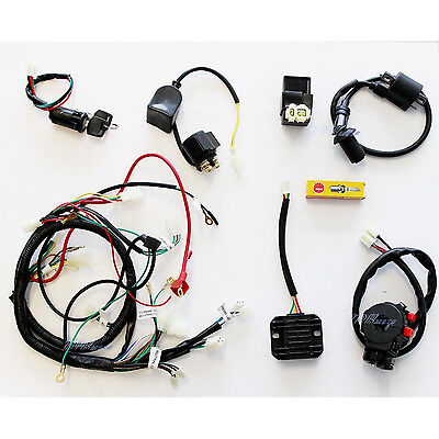Details about BUGGY WIRING HARNESS LOOM GY6 150cc Chinese Electric on