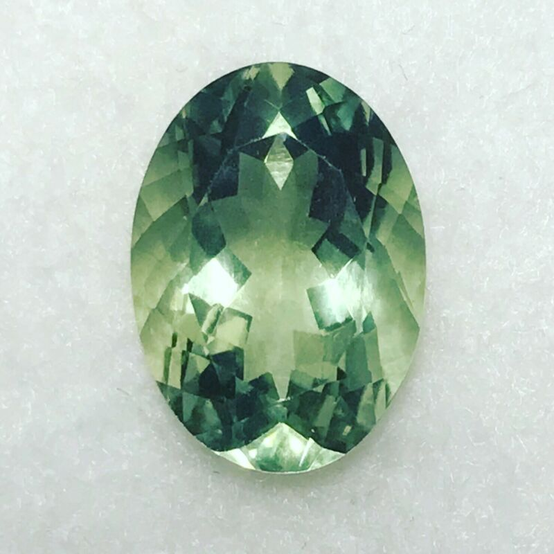 Green Amethyst Prasiolite Natural 5.39 Carat Oval Gem Genuine Loose Gemstone