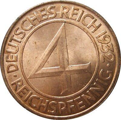 J315  4 Pfennig Weimar von 1932 A in STG   667 004