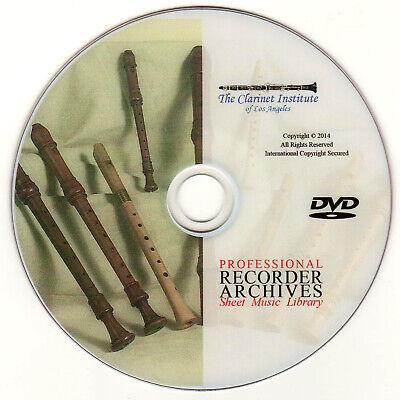 Professional RECORDER SHEET MUSIC Vol. 1 Archive - DVD - Flash Drive - PDF