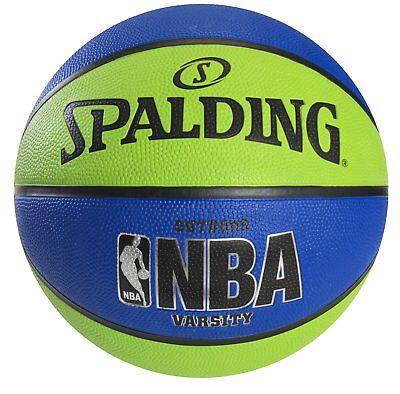 Spalding Nba Varsity Outdoor Rubber Basketball   Green Blue   Official Size 7