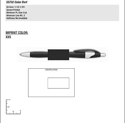 300 Promotional Dart Color Pen Printed With Your Logo, Contact Info Or Message  - $109.99