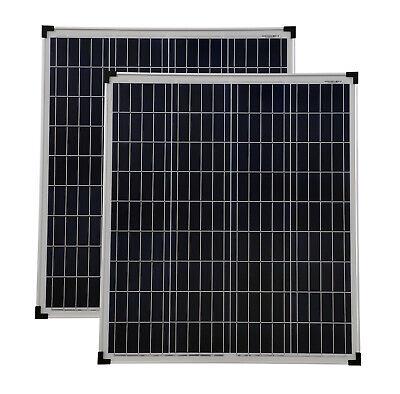 Panel 2 (Solarmodul 2 Stück 80 Watt poly Solarpanel Solarmodul 80 W NEU TÜV Zertifikat)