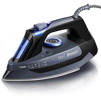 Iron For Clothes 1700W Best Steam Fabric Garment With Heat Scratch Resistant (Best Steam Iron For Clothes)