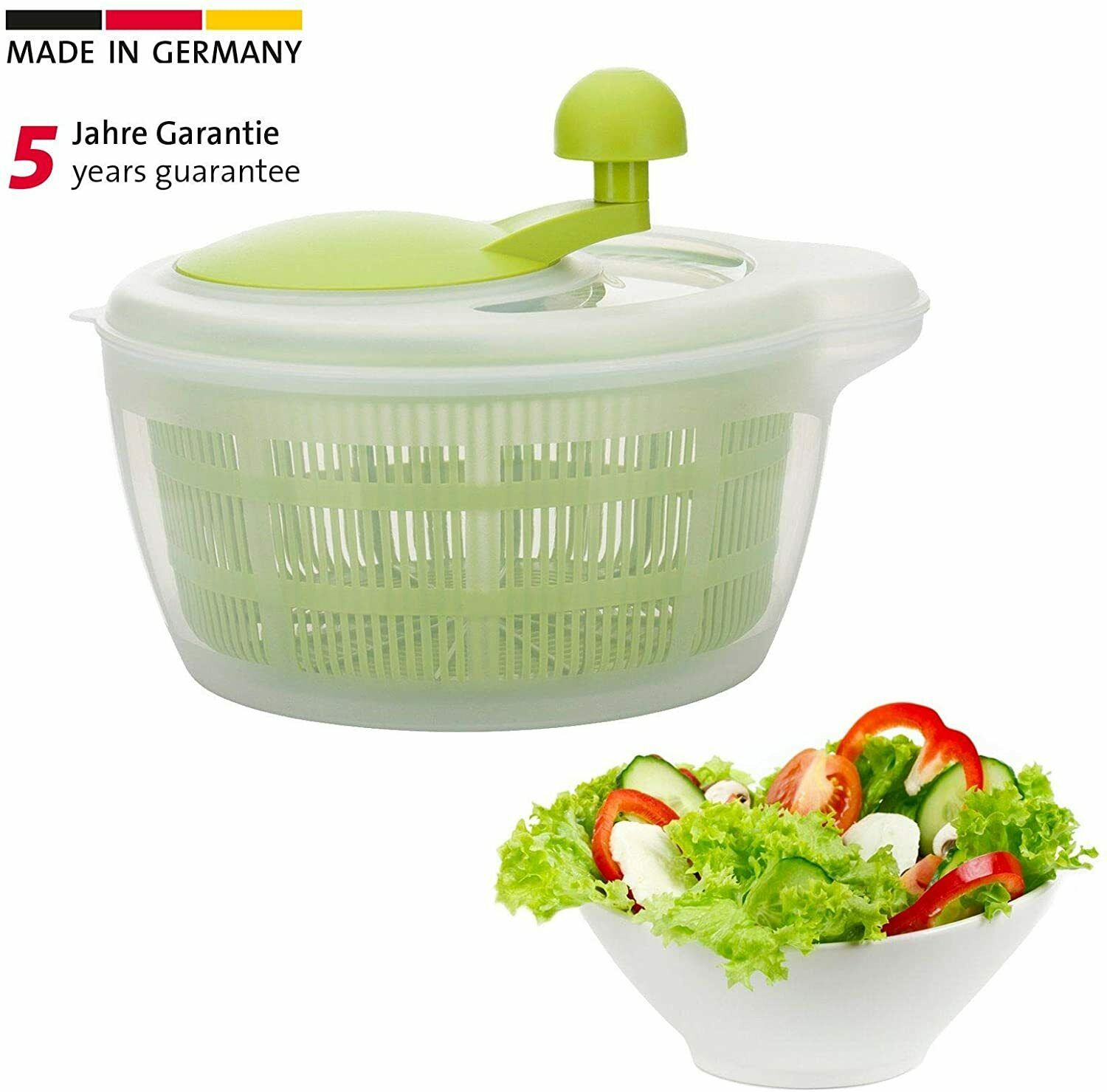 Westmark Germany Vegetable and Salad Spinner with Pouring Sp