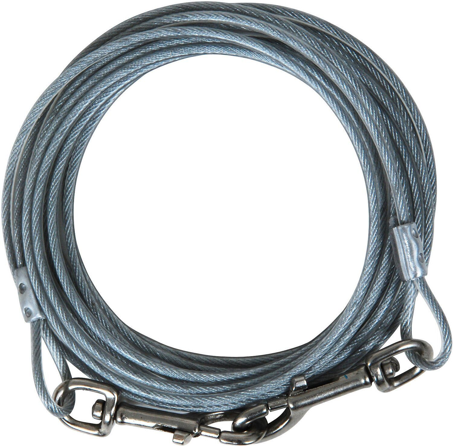 ASPEN PET CABLE TIE-OUT Aircraft Cable Coated W/Crack-Resist