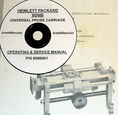 Hewlett Packard Hp 809B Universal Probe Carriage Operating   Service Manual