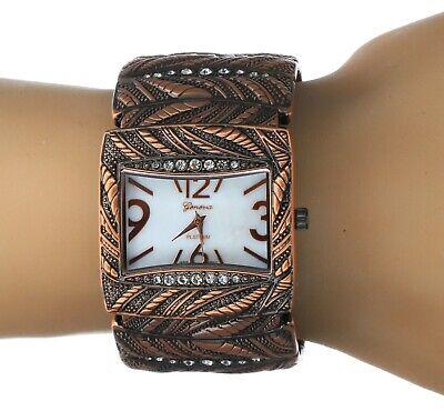 Women's Western Style Rhinestone Copper Finish Bangle Cuff Fashion -