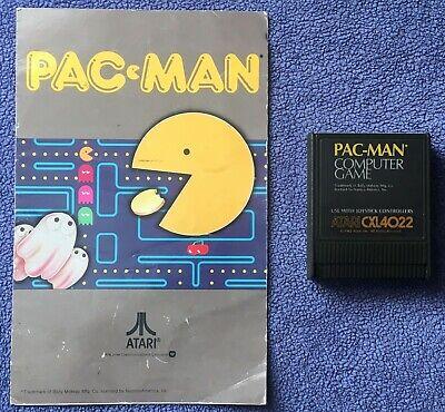 Atari 400/800/XL/XE - Pac-Man (CXL4022) - game cartridge & manual - tested