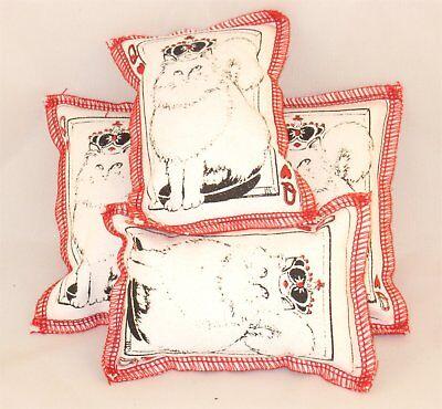 Cat Catnip Pillow Toy - Hand Made Davenport Queen Cat Rectangle - 4 ea