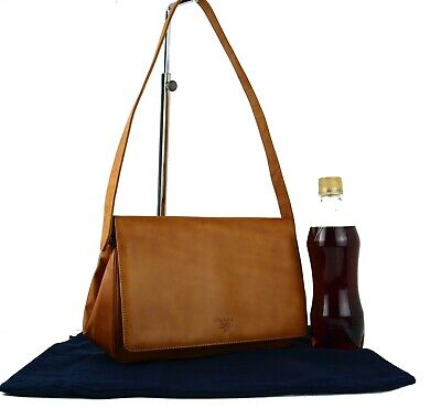 Auth PRADA Milano Camel Brown One Shoulder Bag Hand Bag Purse Italy Vintage Good
