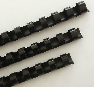 12 Plastic Binding Combs - Black - Set Of 25