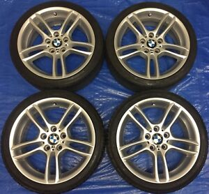 """2012 BMW 135i OEM 18"""" Staggered Wheels & Tires *Perfect Cond.*"""