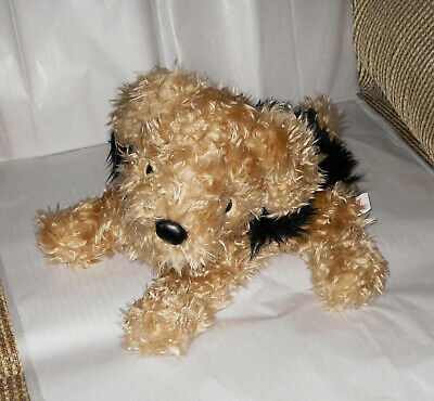 REALISTIC YORKIE TERRIER SCHNAUZER POODLE MIX PUPPY DOG STUFFED ANIMAL PLUSH   Terrier Mix Puppy