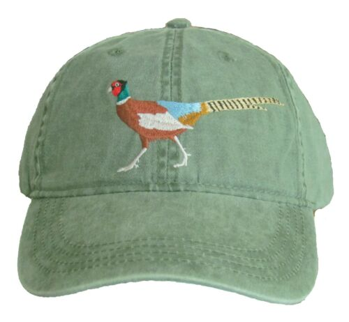 Ring-necked Pheasant Embroidered Cotton Cap NEW