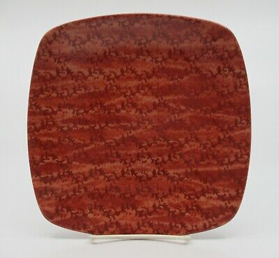 "NORITAKE ELEMENTS - CORAL - RED - SQUARE SALAD PLATE  8 1/2""  0309D"