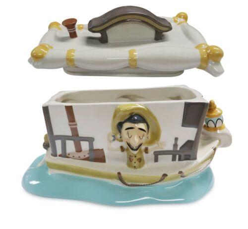 Disney Parks Jungle Cruise Boat Ceramic Cookie Jar Brand New