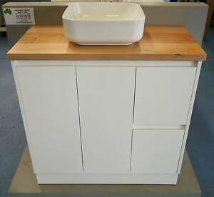 New Sunny Bathroom Vanity Timber Messmate Top Astra Basin Package Melbourne CBD Melbourne City Preview