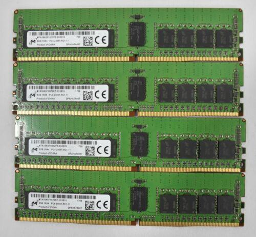 Micron 32GB (4x8GB) 1RX4 PC4-2400T-RC1 Registered ECC Server RAM Memory