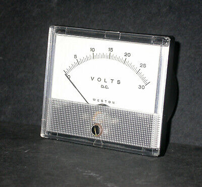 Weston Model 1931 T 1931t 0-30v Volts Dc 3 38 X 2 78 Analog Panel Meter