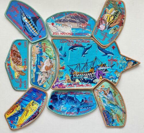 2021 Central Florida Council Jamboree Patch Set - Sea Turtle feat. Guy Harvey!