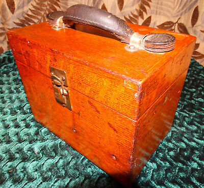 Leeds Northrup Potentiometer In Quarter Sawn Oak Mitered Box From Boeing Corp.