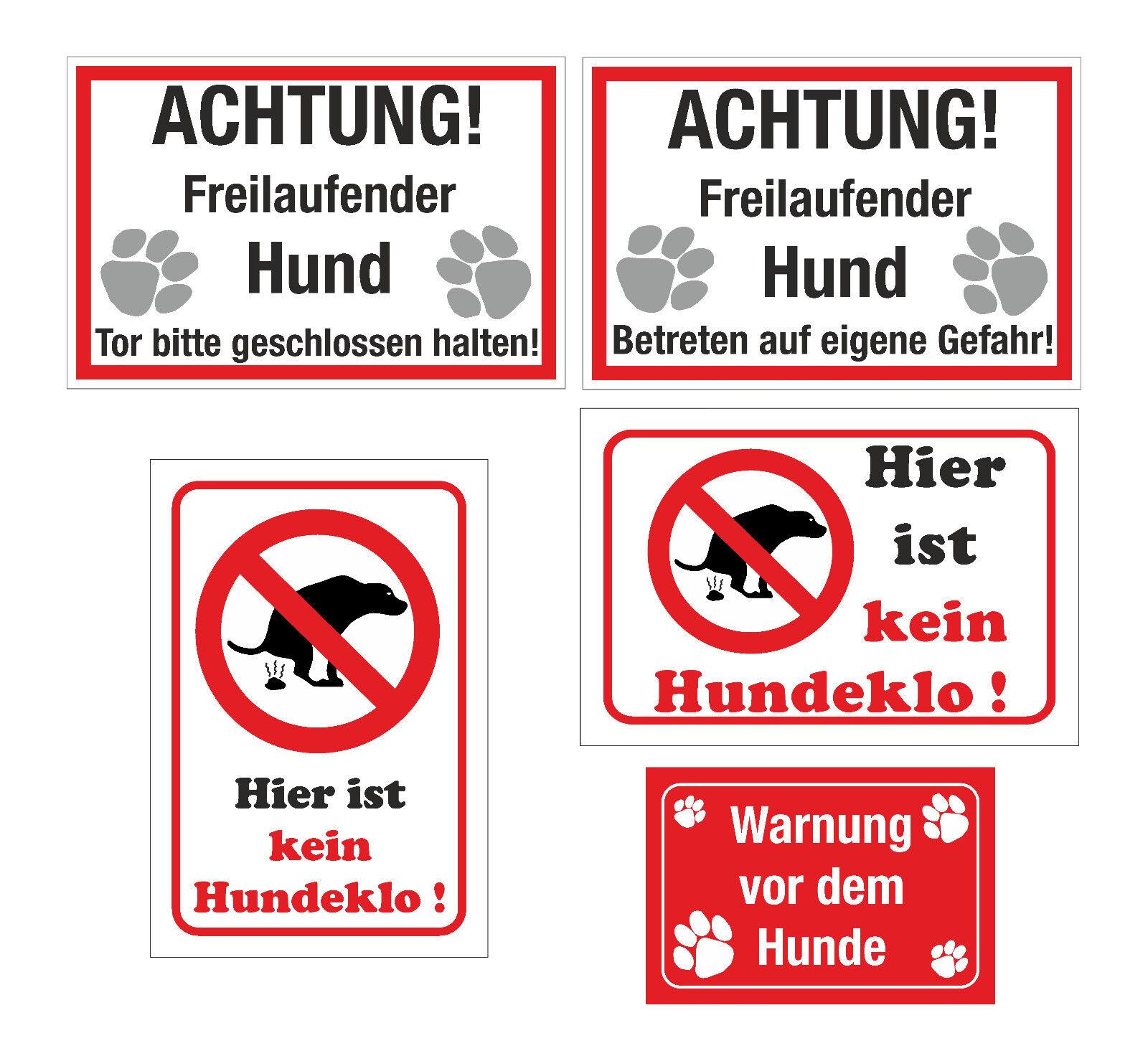 Achtung Hund kein Hundeklo Schild 20x30cm Hinweisschild Hundeschild Warnschild