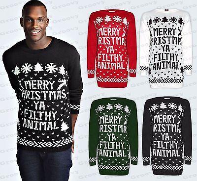 Unisex Damen Herren Merry Christmas Ya Filthy Animal Weihnachten Strickpullover ()