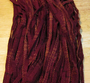 OVER DYED CRANBERRY PLAID 125 count # 8 Rug Hooking Cut Wool Strips