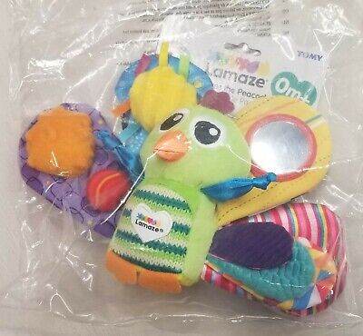 "(NEW) LAMAZE TOY ""Jacques the Peacock"" Developmental Toy"