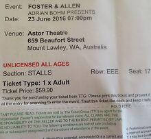 FOSTER AND ALLEN Two tickets for Astor Theatre. Mandurah Mandurah Area Preview