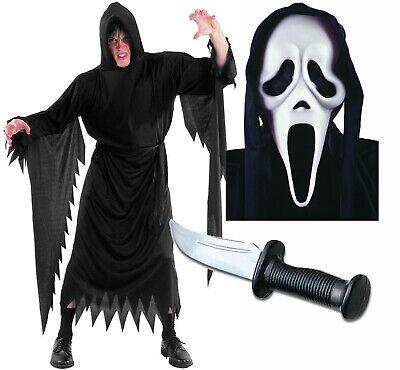 Scream Robe Mask and Dagger Mens Halloween Fancy - Scream Robe Kostüme