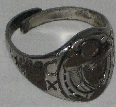 1940s Jewelry Styles and History 1940's Hopalong Cassidy Premium Ring Face & Sides Worn Down - Metal $6.99 AT vintagedancer.com