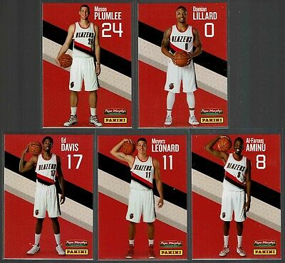 2015 16 Papa Murphys Panini Portland Trail Blazers Single Cards   Pick From List