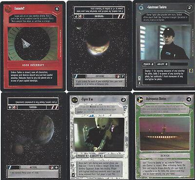 6 cards Star WARS Customizable Card Game CCG - genau die auf dem Scan 1