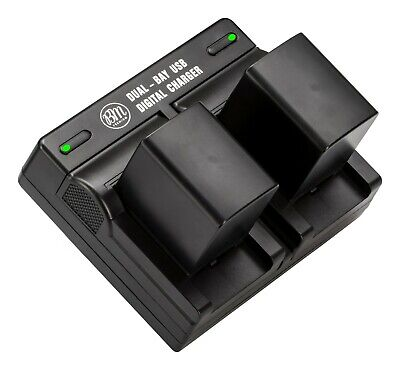 BM 2 BP-820 Batteries & Dual Charger for Canon HFM300 HFS100 HFS200 HFS10 HFS11