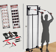Body by Jake Tower 200 Door Gym with Chart Guide DVD Bonus Straight Bar Workout
