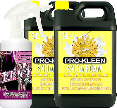Pro-Kleen Iron Contamination Remover Alloy Wheel Cleaner Fallout Car Snow Foam